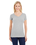 JA8136 J America Ladies' Glitter V-Neck T-Shirt