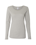 JA8236 J America Ladies' Glitter Long-Sleeve T-Shirt