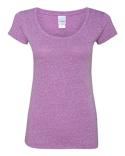 JA8260 J America Ladies Twisted Slub Jersey Scoopneck T-Shirt