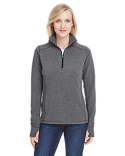 JA8433 J America Ladies' Omega Stretch Quarter-Zip