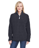 JA8451 J America Ladies Epic Sherpa 1/4 Zip