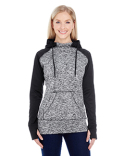 JA8618 J America Ladies' Colorblock Cosmic Hood