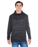 JA8661 J America Adult Odyssey Striped Poly Fleece Pullover Hood