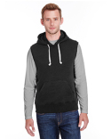 JA8877 J America Adult Triblend Fleece Sleeveless Hooded Sweatshirt