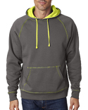 JA8883 J America Adult Shadow Fleece Pullover Hood