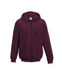 JHA050 Just Hoods By AWDis Men's 80/20 Midweight College Full-Zip Hooded Sweatshirt