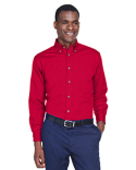 M500 Harriton Men's Easy Blend™ Long-Sleeve Twill Shirt with Stain-Release