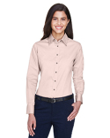 M500W Harriton Ladies' Easy Blend™ Long-Sleeve Twill Shirt with Stain-Release