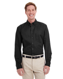 M581T Harriton Men's  Tall Foundation 100% Cotton Long-Sleeve Twill Shirt with Teflon™