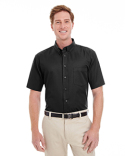 M582 Harriton Men's Foundation 100% Cotton Short-Sleeve Twill Shirt with Teflon™