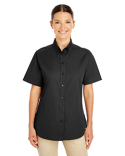 M582W Harriton Ladies' Foundation 100% Cotton Short-Sleeve Twill Shirt with Teflon™