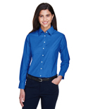 M600W Harriton Ladies' Long-Sleeve Oxford with Stain-Release