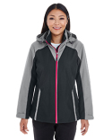 NE700W Ash City - North End Ladies' Embark Interactive Colorblock Shell with Reflective Printed Panels