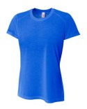 NW3264 A4 Ladies' Shorts Sleeve Spun Poly T-Shirt