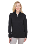 UC792W UltraClub Ladies' Coastal Pique Fleece Quarter-Zip