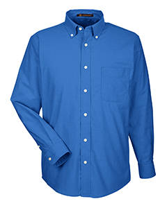 M600 Harriton Men's Long-Sleeve Oxford with Stain-Release